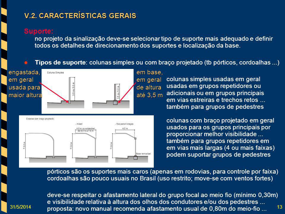 V.2. CARACTERÍSTICAS GERAIS