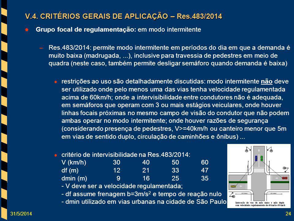 V.4. CRITÉRIOS GERAIS DE APLICAÇÃO – Res.483/2014