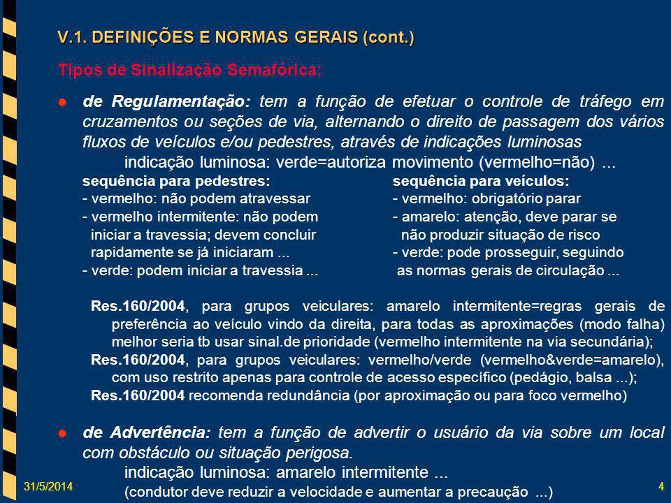 V.1. DEFINIÇÕES E NORMAS GERAIS (cont.)