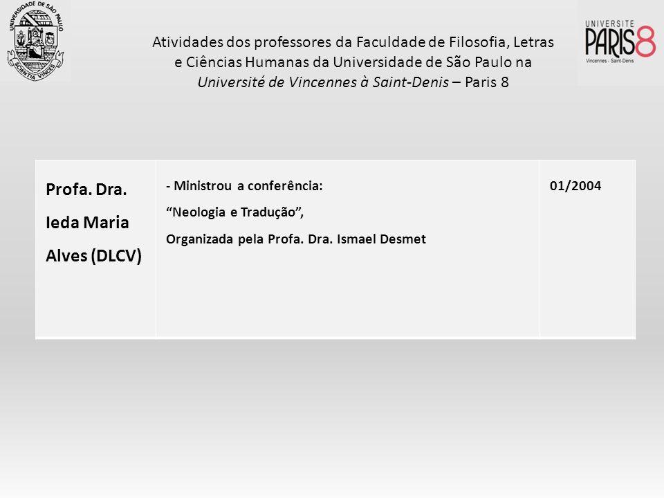 Profa. Dra. Ieda Maria Alves (DLCV)