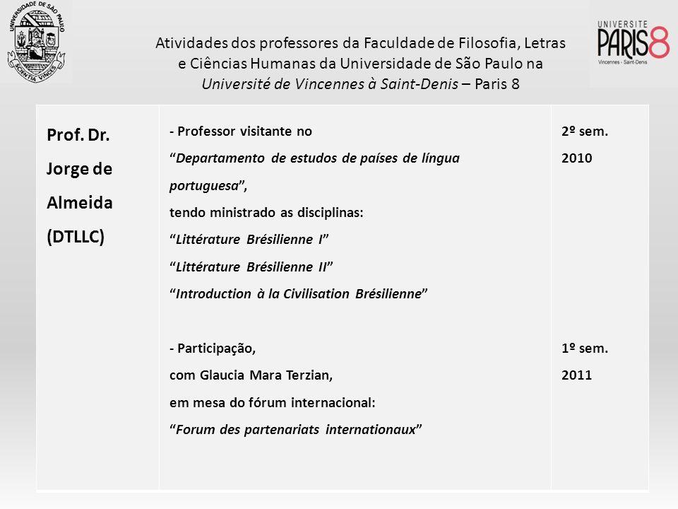 Prof. Dr. Jorge de Almeida (DTLLC)