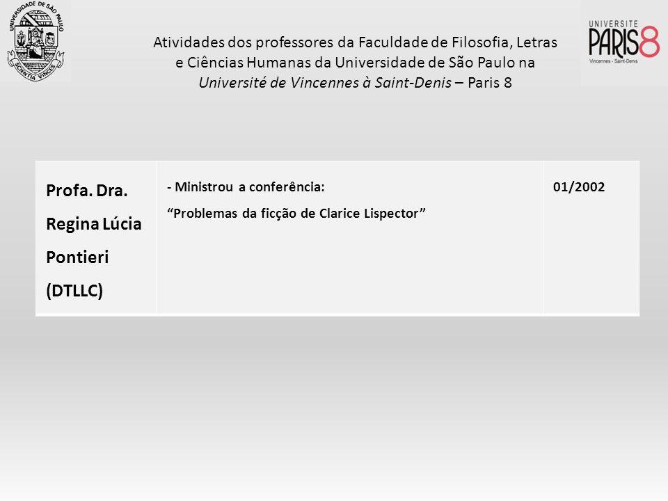 Profa. Dra. Regina Lúcia Pontieri (DTLLC)