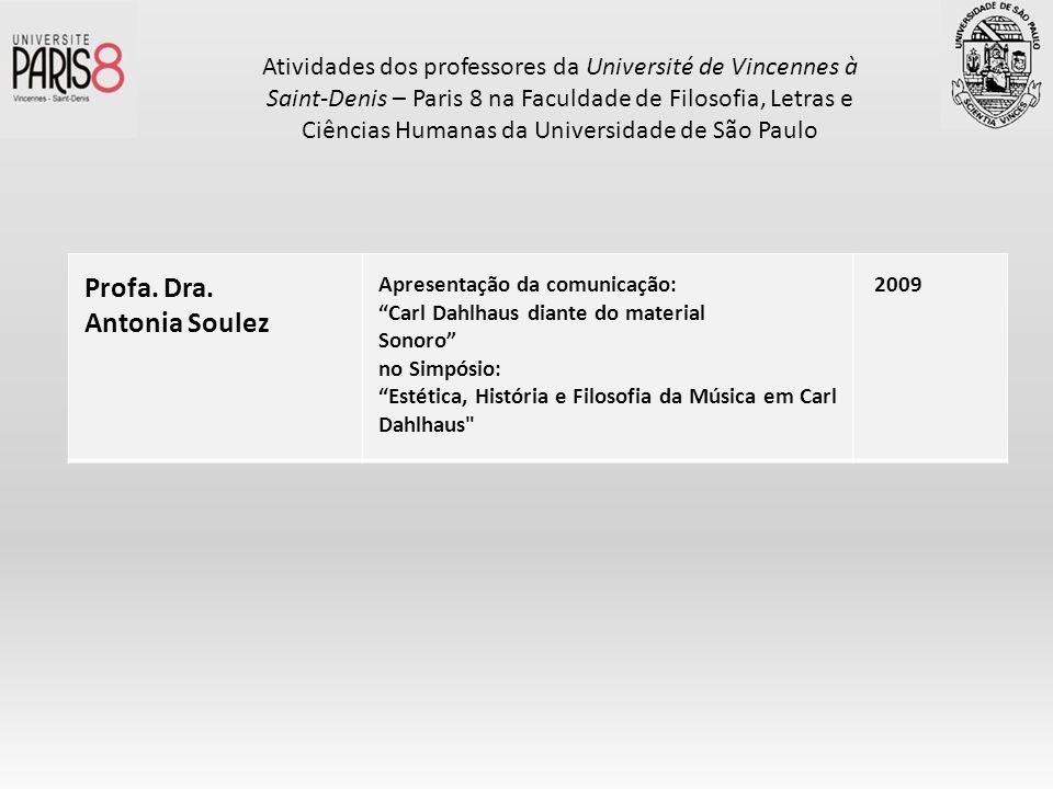 Profa. Dra. Antonia Soulez