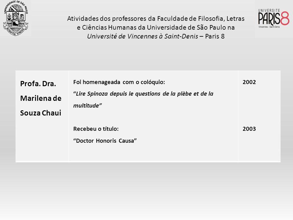 Profa. Dra. Marilena de Souza Chaui