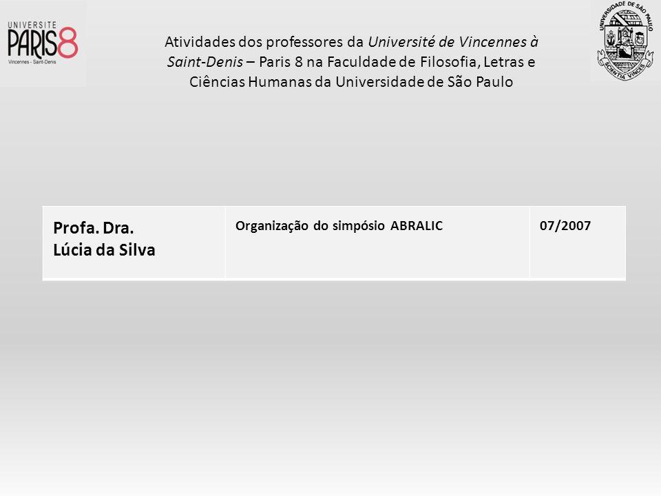Profa. Dra. Lúcia da Silva