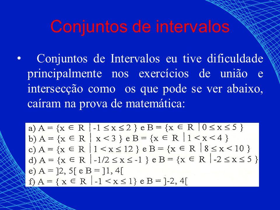 Conjuntos de intervalos
