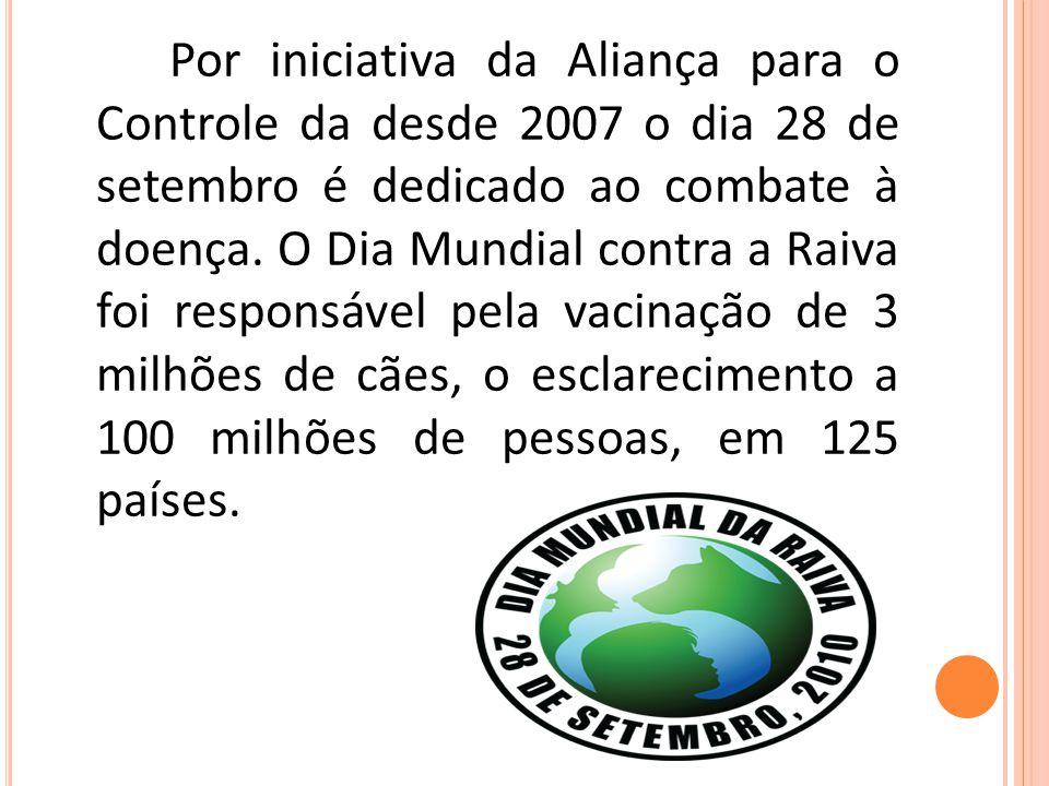 Por iniciativa da Aliança para o Controle da desde 2007 o dia 28 de setembro é dedicado ao combate à doença.