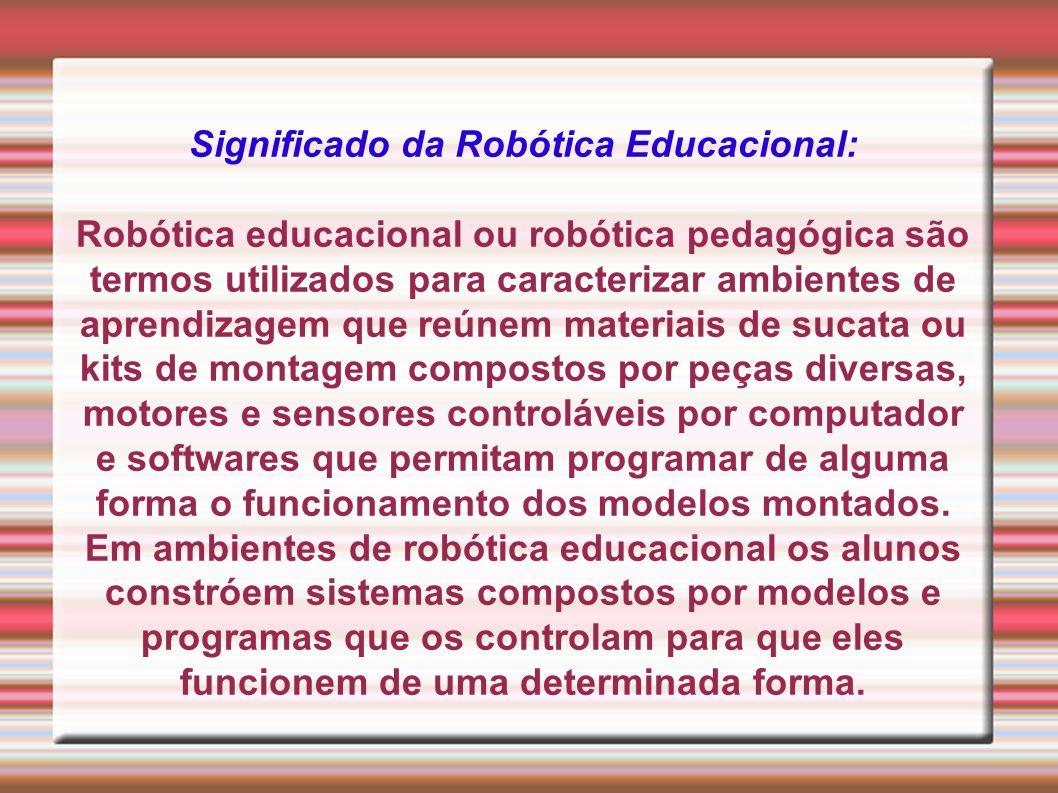 Significado da Robótica Educacional:
