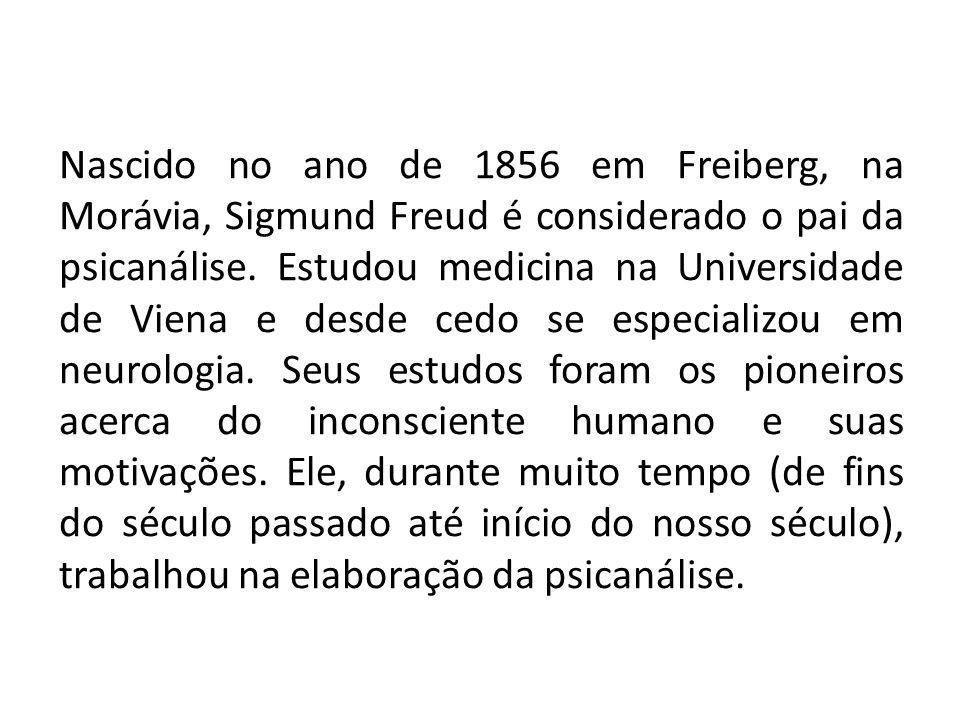 Nascido no ano de 1856 em Freiberg, na Morávia, Sigmund Freud é considerado o pai da psicanálise.