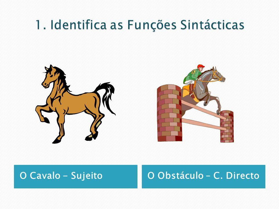 1. Identifica as Funções Sintácticas