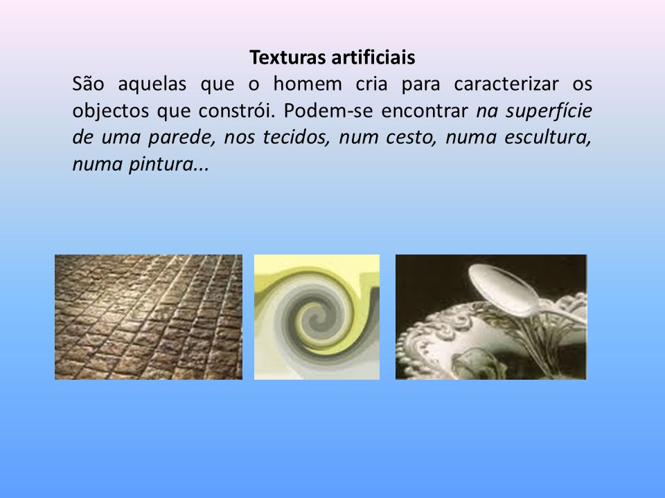 Texturas artificiais