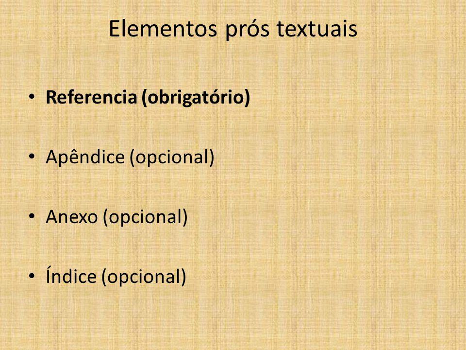 Elementos prós textuais