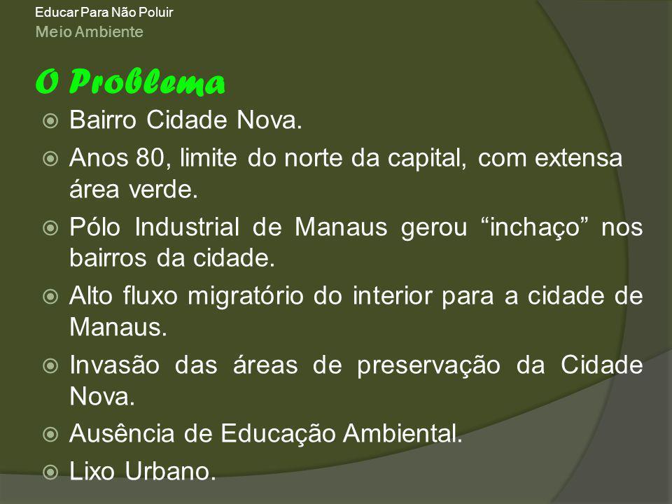 O Problema Bairro Cidade Nova.