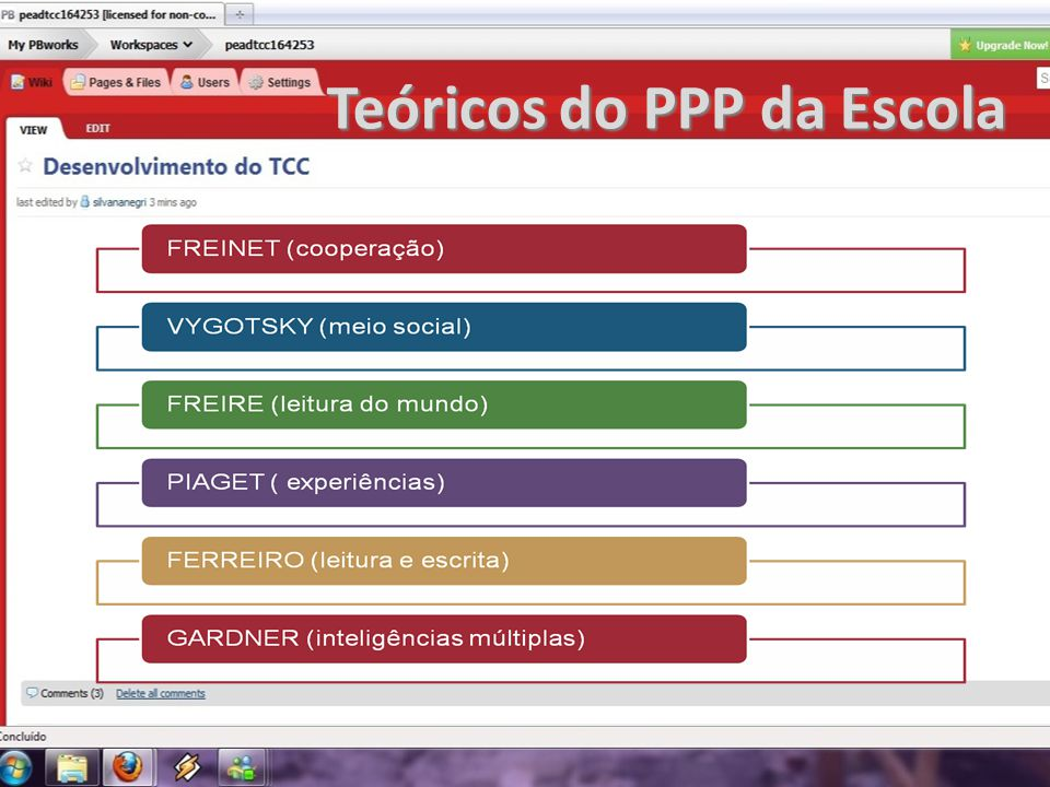Teóricos do PPP da Escola