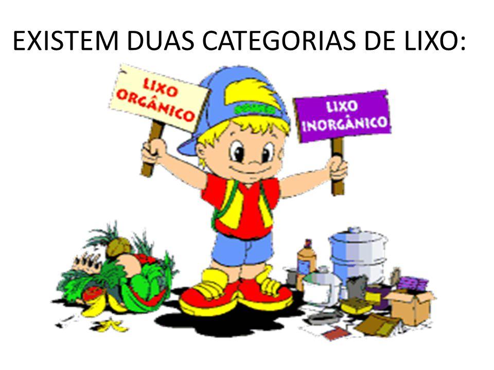 EXISTEM DUAS CATEGORIAS DE LIXO: