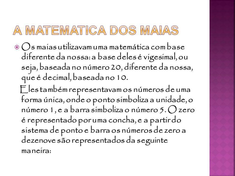A MATEMATICA DOS MAIAS