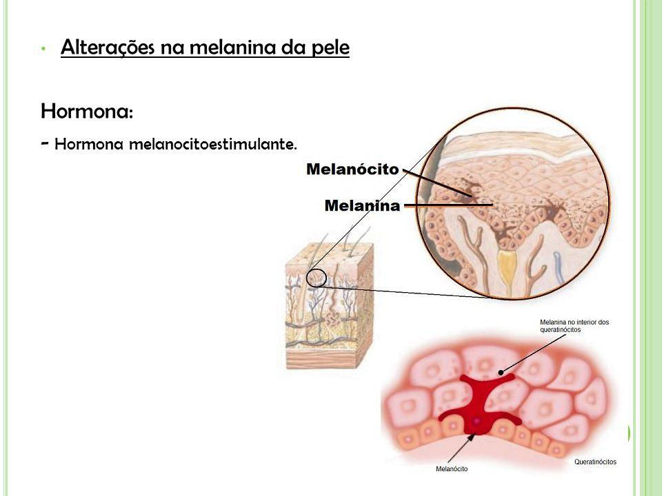 Alterações na melanina da pele