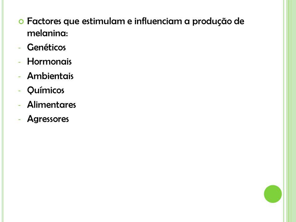 Factores que estimulam e influenciam a produção de melanina: