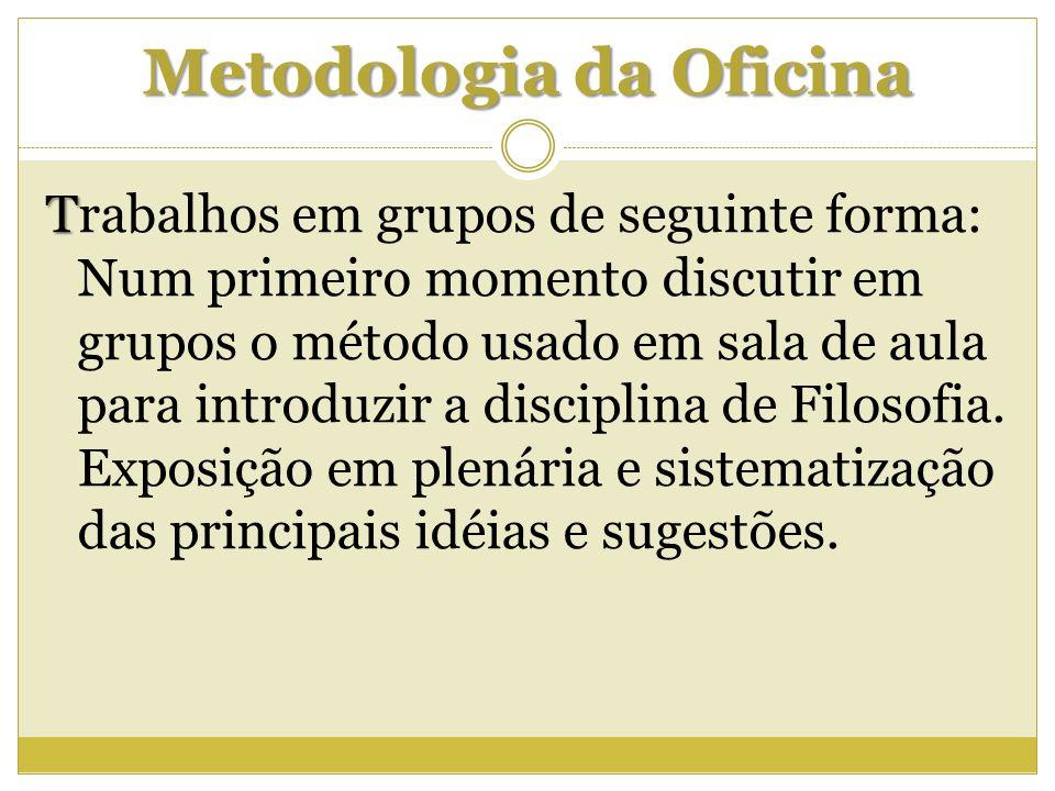 Metodologia da Oficina