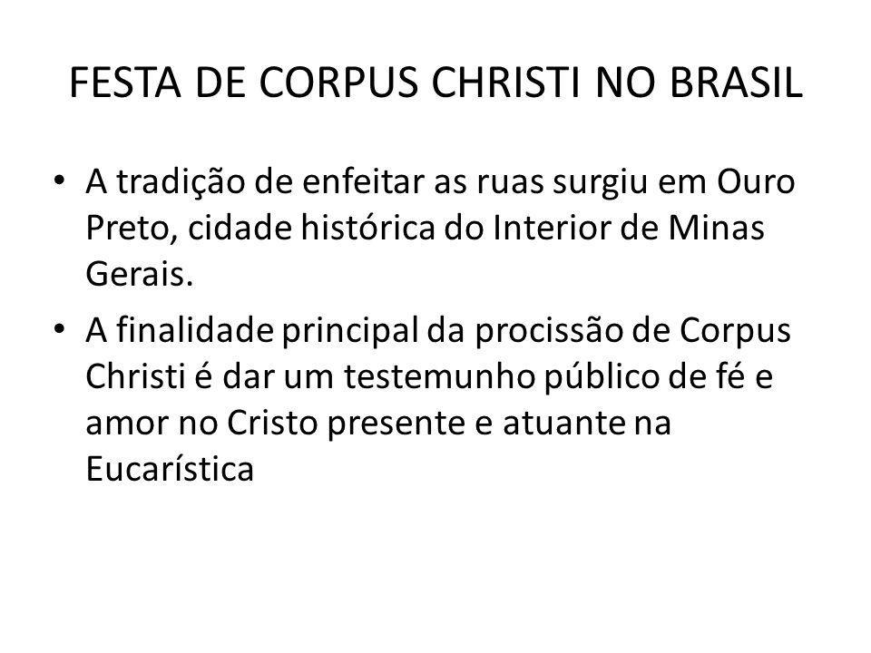 FESTA DE CORPUS CHRISTI NO BRASIL