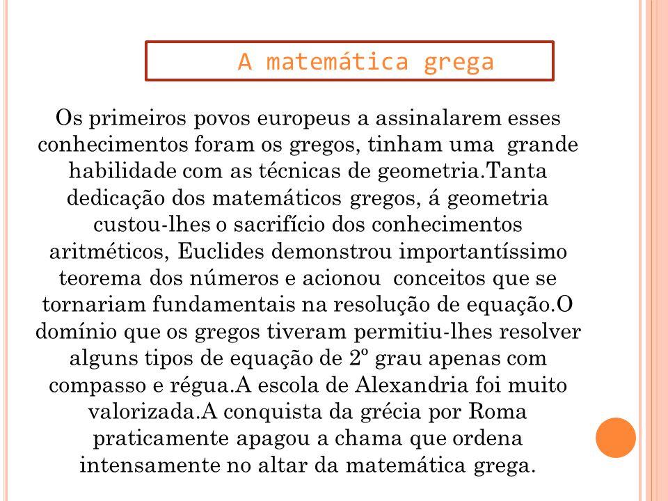 A matemática grega