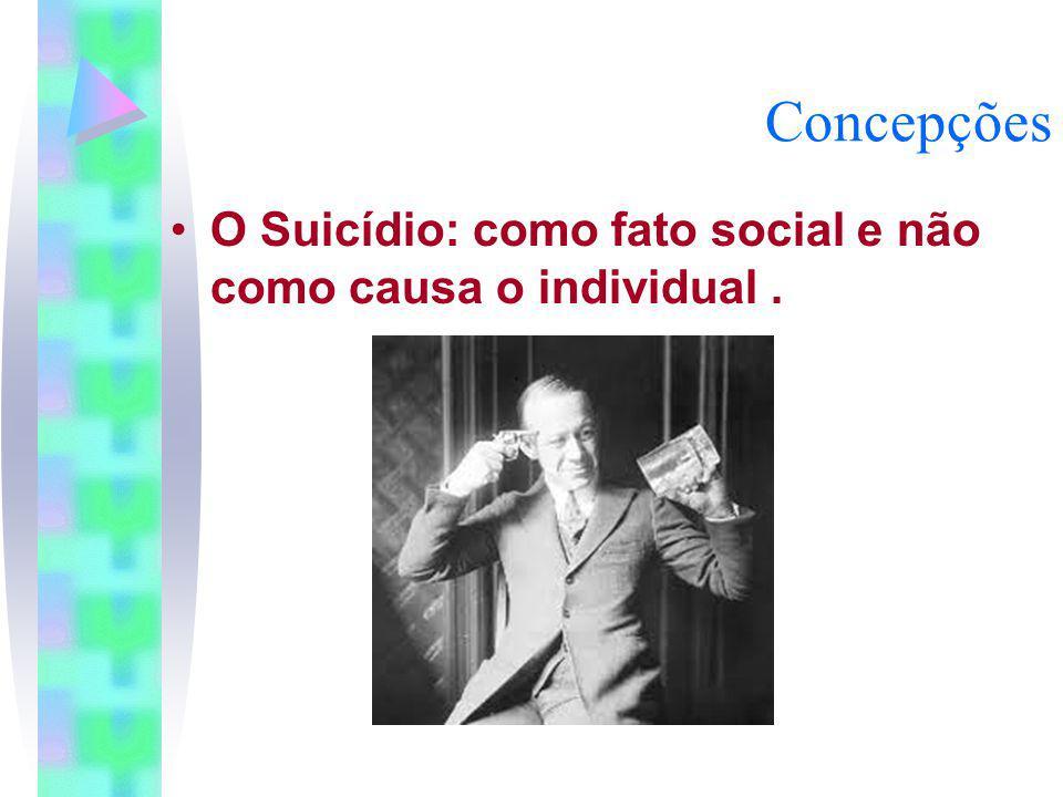 Concepções O Suicídio: como fato social e não como causa o individual .