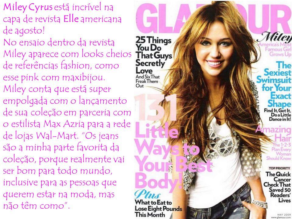 Miley Cyrus está incrível na capa de revista Elle americana de agosto!
