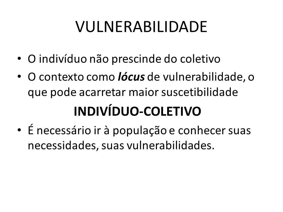 VULNERABILIDADE INDIVÍDUO-COLETIVO