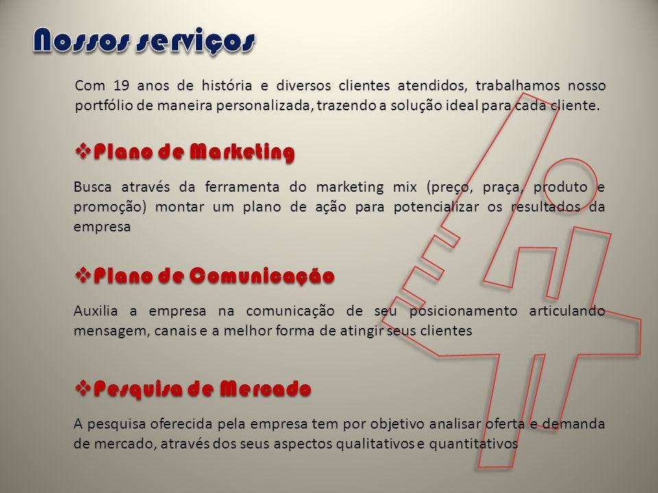 4 Nossos serviços Plano de Marketing Plano de Comunicação