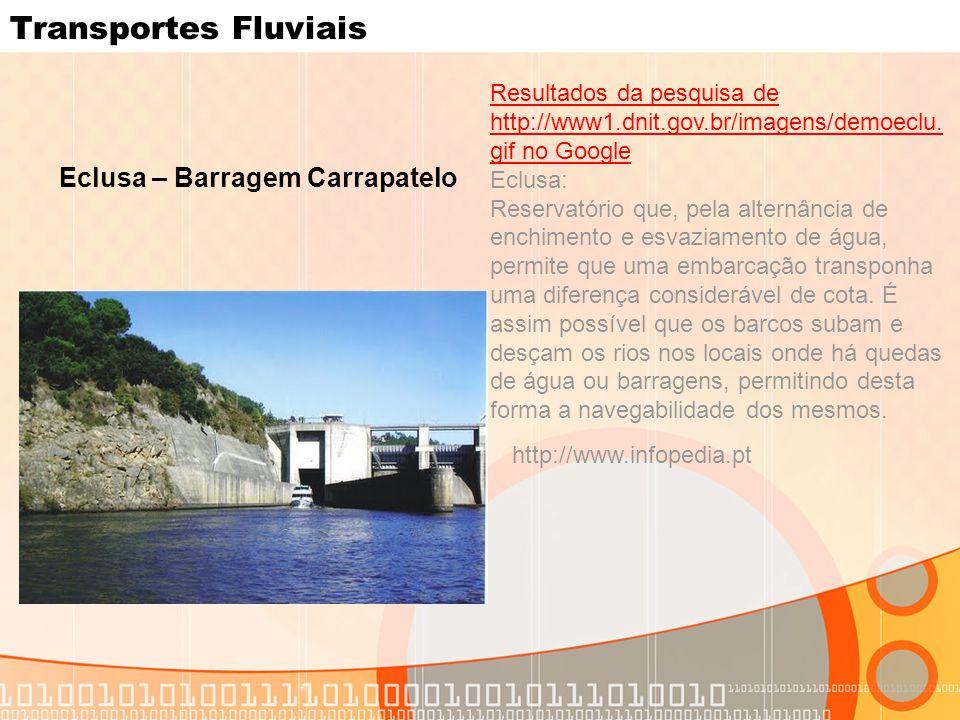 Transportes Fluviais Eclusa – Barragem Carrapatelo