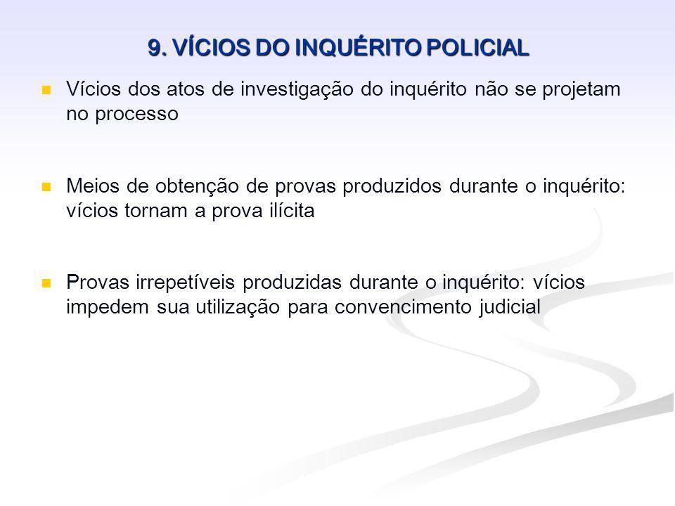 9. VÍCIOS DO INQUÉRITO POLICIAL