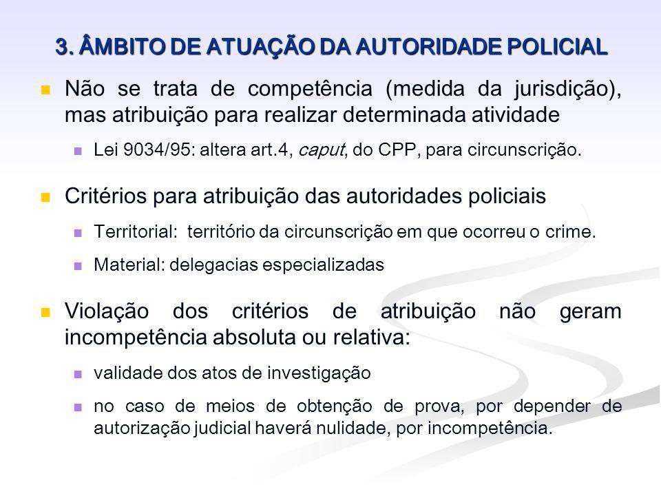 3. ÂMBITO DE ATUAÇÃO DA AUTORIDADE POLICIAL