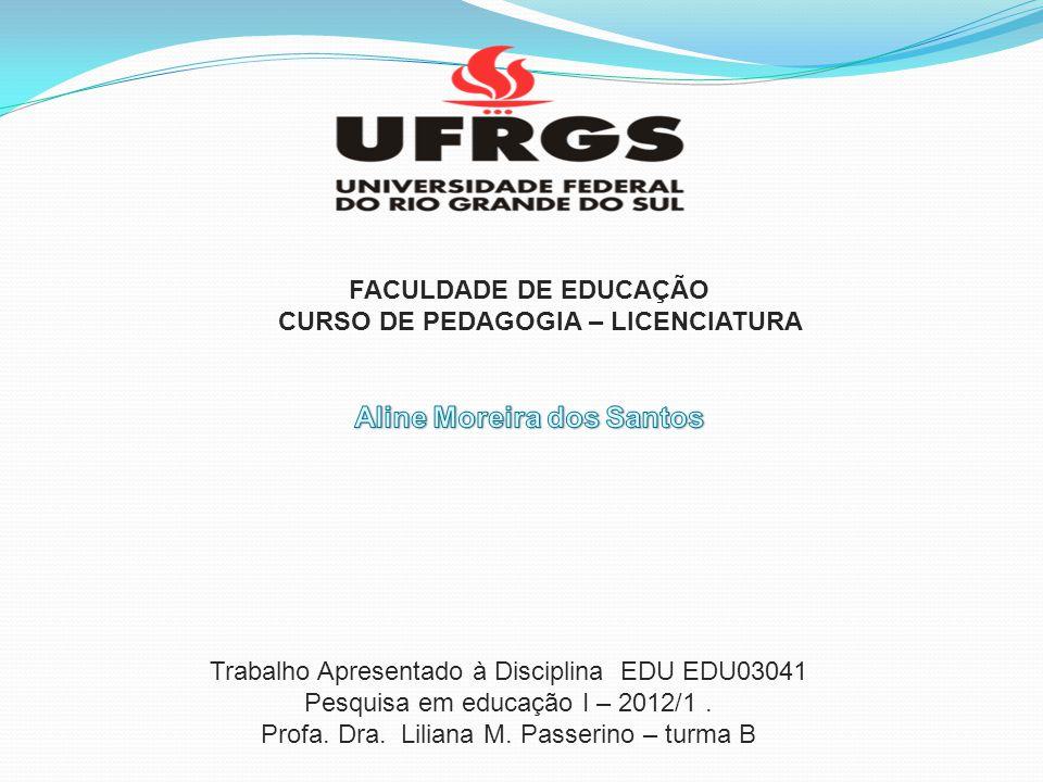 CURSO DE PEDAGOGIA – LICENCIATURA Aline Moreira dos Santos