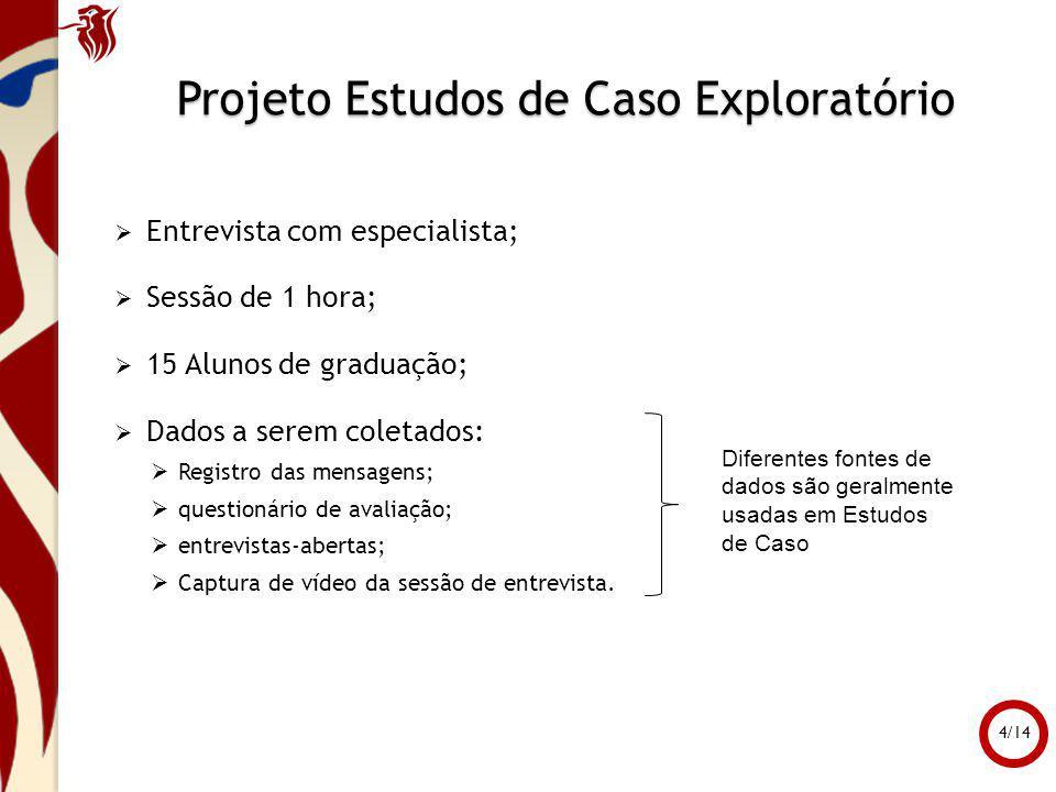 Projeto Estudos de Caso Exploratório