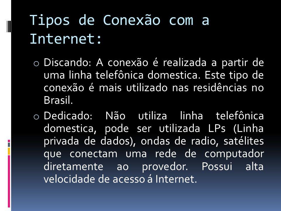 Tipos de Conexão com a Internet: