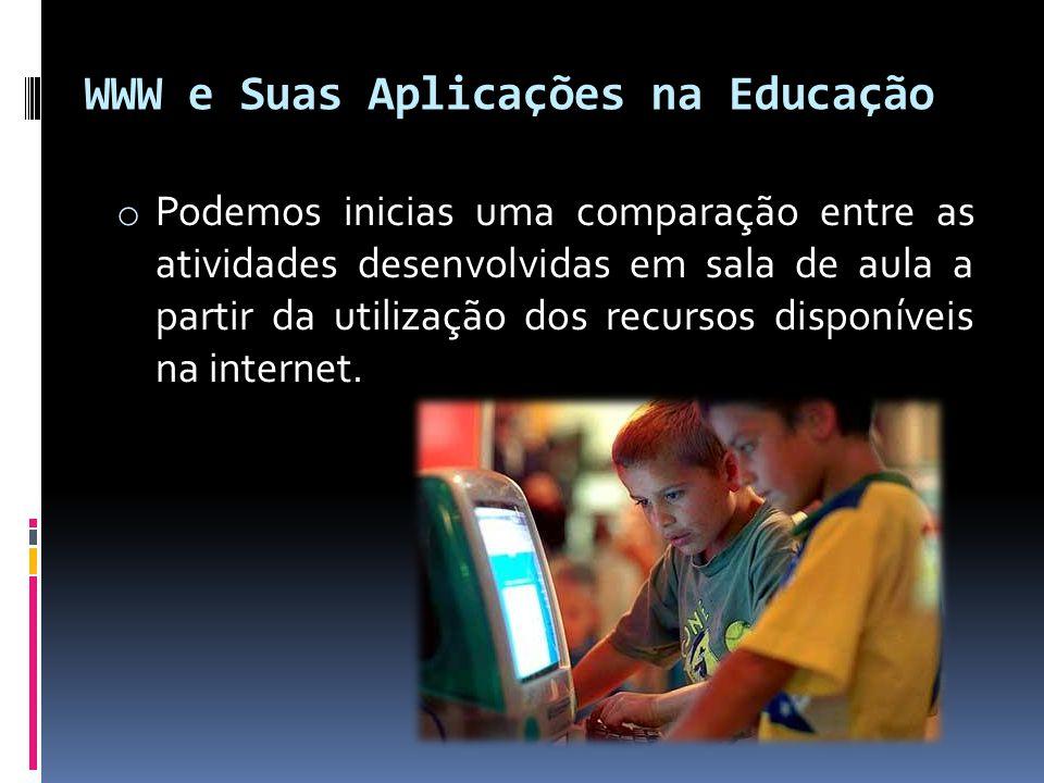 WWW e Suas Aplicações na Educação