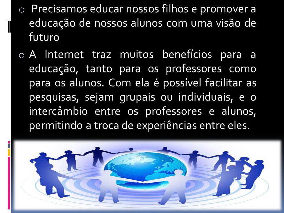 Precisamos educar nossos filhos e promover a educação de nossos alunos com uma visão de futuro