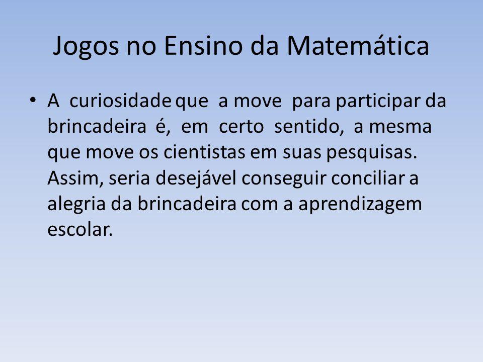 Jogos no Ensino da Matemática