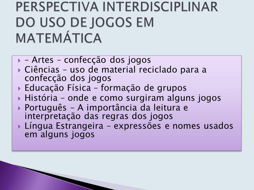 PERSPECTIVA INTERDISCIPLINAR DO USO DE JOGOS EM MATEMÁTICA