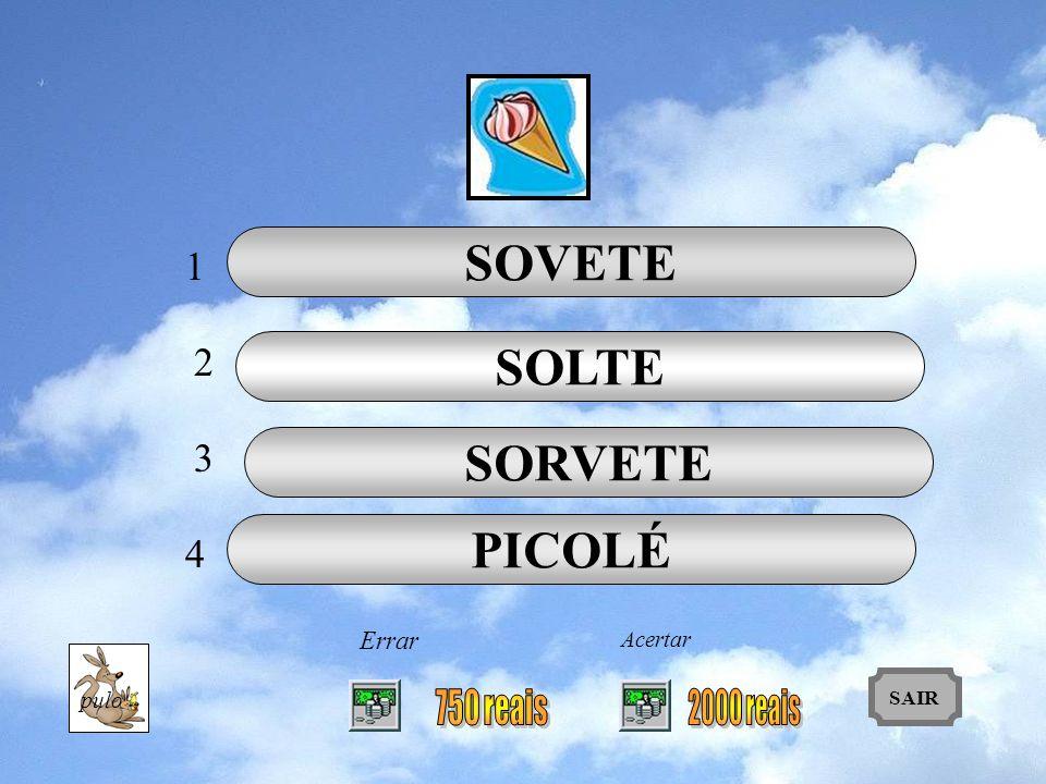 SOVETE SOLTE SORVETE PICOLÉ