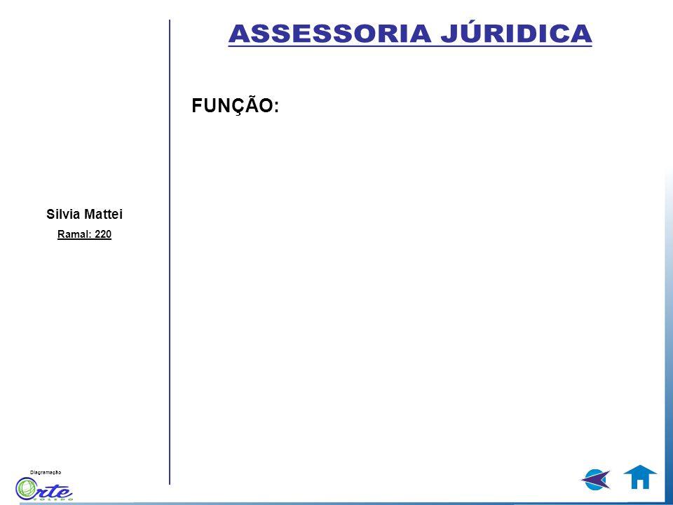 ASSESSORIA JÚRIDICA FUNÇÃO: Silvia Mattei Ramal: 220