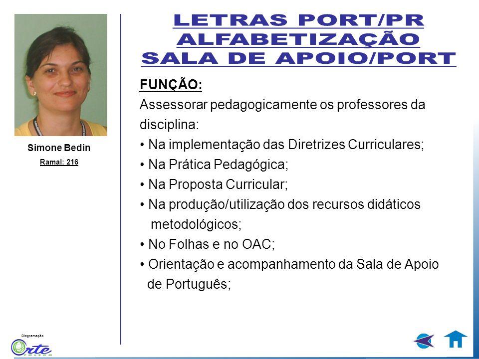 LETRAS PORT/PR ALFABETIZAÇÃO SALA DE APOIO/PORT FUNÇÃO: