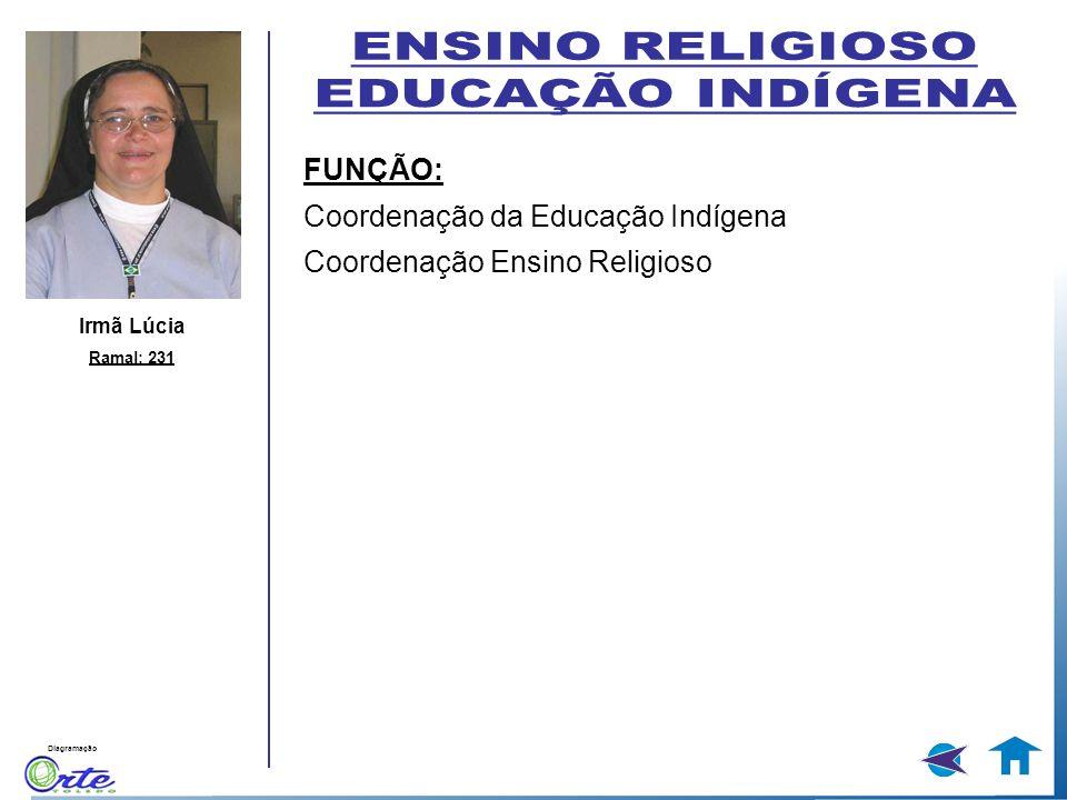 ENSINO RELIGIOSO EDUCAÇÃO INDÍGENA FUNÇÃO: