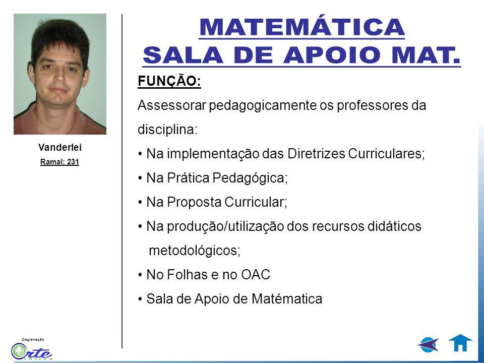 MATEMÁTICA SALA DE APOIO MAT. FUNÇÃO:
