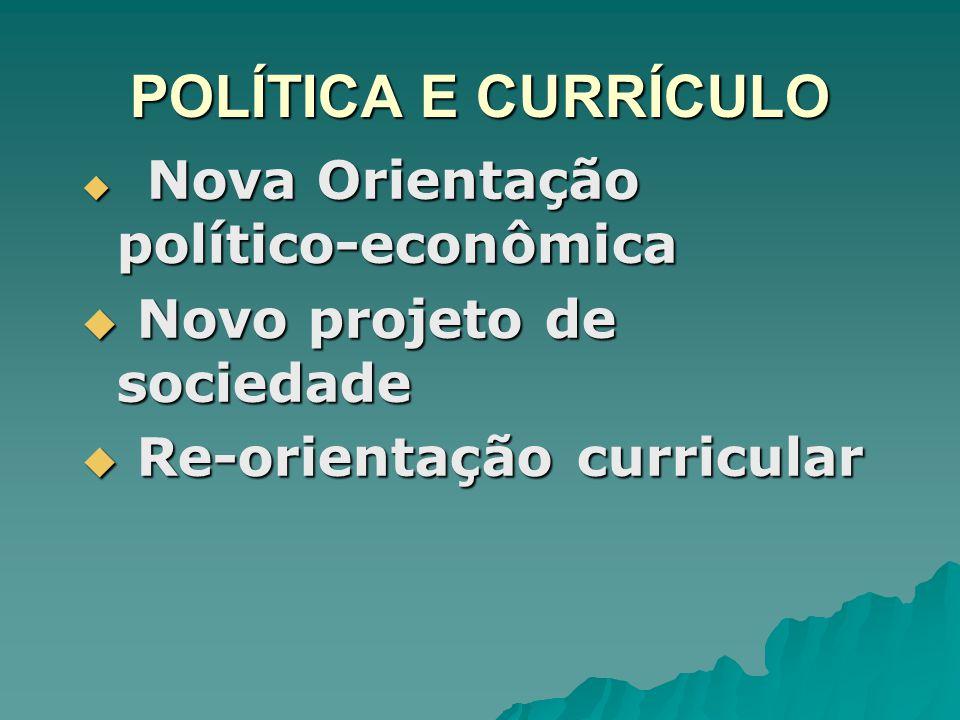 POLÍTICA E CURRÍCULO Novo projeto de sociedade