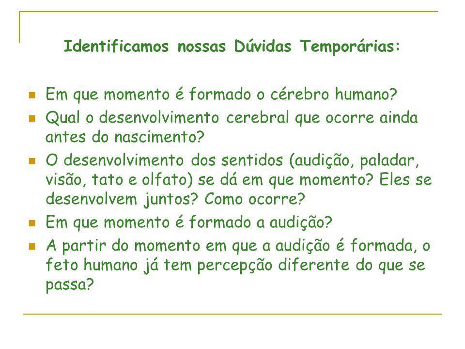 Identificamos nossas Dúvidas Temporárias: