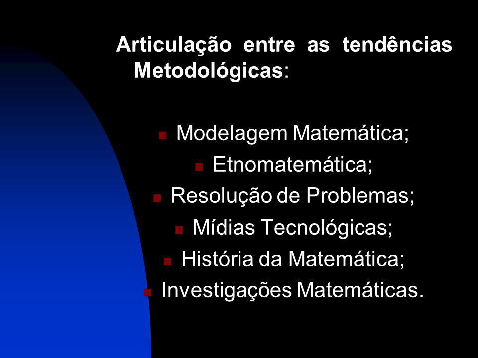 Articulação entre as tendências Metodológicas: