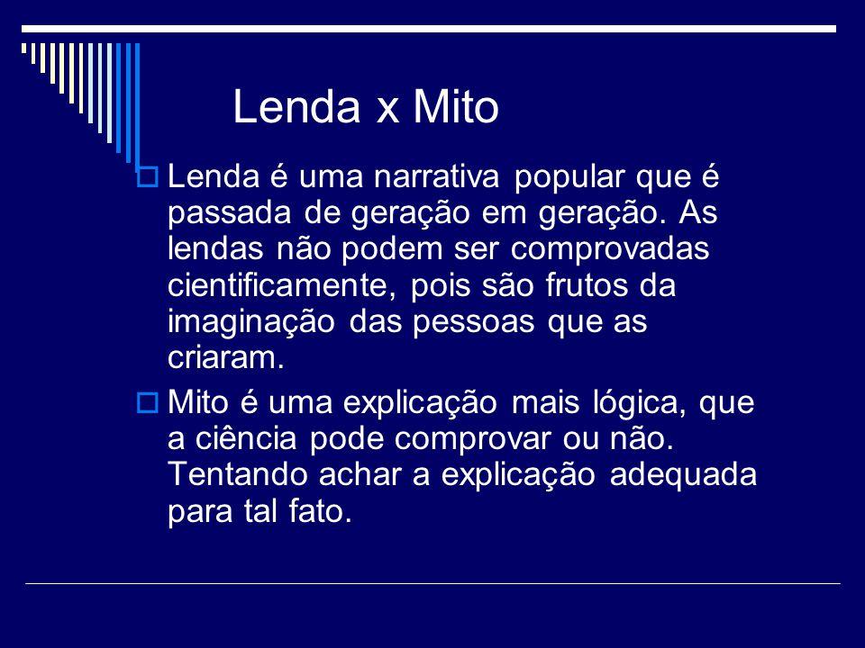 Lenda x Mito
