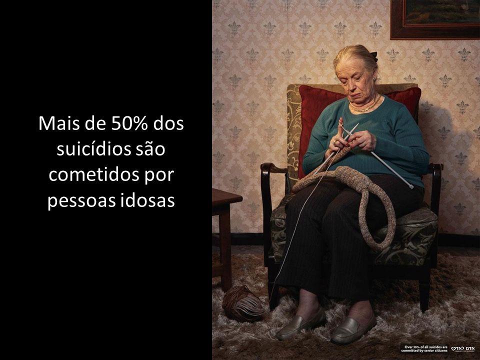Mais de 50% dos suicídios são cometidos por pessoas idosas