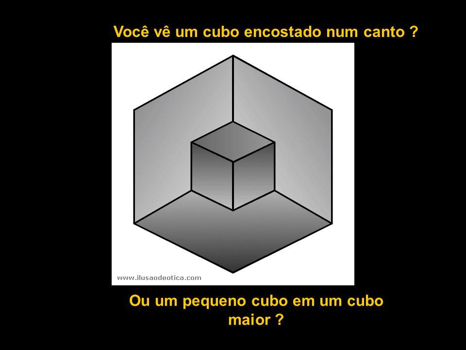 Ou um pequeno cubo em um cubo maior